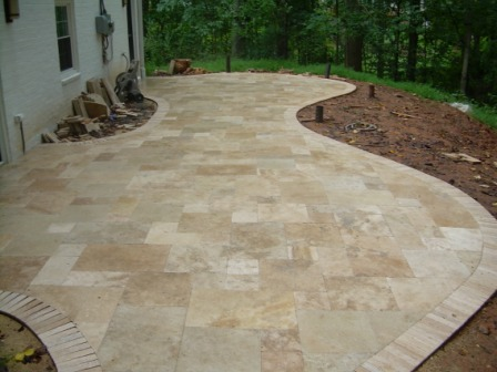 Patio Porcini Dark French Pattern Pavers Gothic Stone