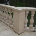Cream Travertine Balustrades & Pilaster-web
