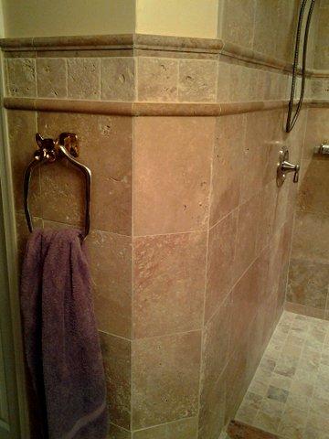 Interior Tile Canyon Red Travertine Bathroom Gothic Stone